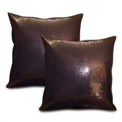 Sephora Copper Sequin Cushion Cover - Set Of 2