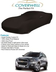 Coverwell Designer Black Waterproof Custom Fit Car Body Cover For Chevrolet Captiva