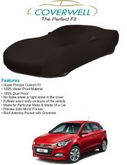 Body covers for cars - Coverwell Designer Black Waterproof Custom Fit Car Body Cover For Hyundai Elite i20