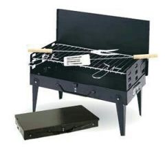 Shop or Gift Portable Briefcase Style Folding Barbecue Grill Toaster Online.