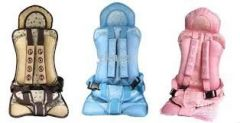 child safety seat portable car baby car seat cushions adjusted to sit brown