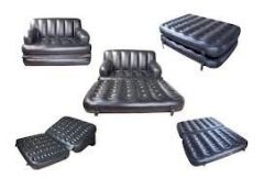 Best Way 5 in 1 Inflatable Sofa Bed - Black