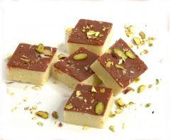 Indian Sky Shop's Delicious Chocolate Barfi Sweet. 500 gm