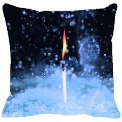 Leaf Designs Blue Black Cushion Cover - Code  53864552091