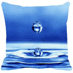 Leaf Designs Blue Drop Of Water Cushion Cover - Code  53863342091