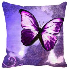 Leaf Designs Purple Butter fly Cushion Cover - Code  53862682091
