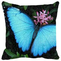 Leaf Designs Blue Butterfly Cushion Cover - Code  53862762091