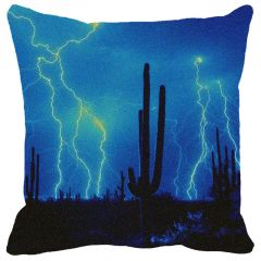 Leaf Designs Blue Lightening Cushion Cover - Code  53862872091