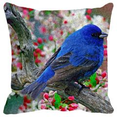 Leaf Designs Blue Bird Cushion Cover - Code  53862552091
