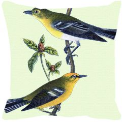 Leaf Designs Yellow And Grey Bird Cushion Cover - Code  53863652091