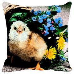 Leaf Designs Multi Colored Birdand Flowers Cushion Cover - Code  53862582091