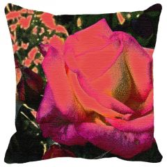 Leaf Designs Pink Rose Cushion Cover - Code  53862692091