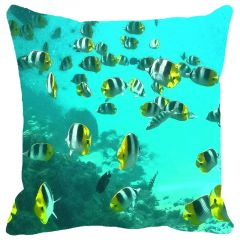 Leaf Designs Fish Cushion Cover - Code  53863012091