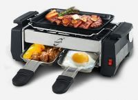 Portable Nonstick Electric Barbecue Grill Stainless Steel