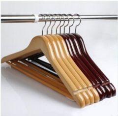 Buy Set Of 24 Wooden Hanger Get 6 PCs Free Js