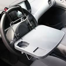 Multi-purpose Car Laptop Tray Grey Color