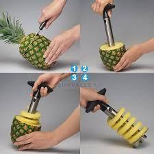 Gift Or Buy Stainless Steel Pineapple Peeler Pine Apple Slicer Pine Apple Corer / Cutte