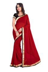 Styloce Designer Sarees - Styloce Red Fancy Designer Saree