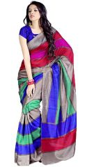Shop or Gift STYLOCE MULTI COLOR BHAGALPURI SAREE STY-8642_1 Online.