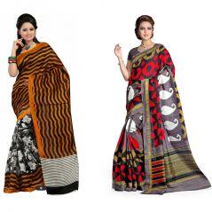 Set Of 2 Bhagalpuri Silk Saree Combo By Styloce. STY-8658-8758