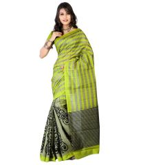 STYLOCE GREEN BHAGALPURI PRINTED SAREE