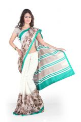 Styloce White Cotton Saree (Code - STY-8760-SS1)