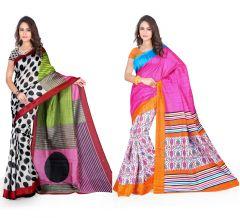 Set Of 2 Bhagalpuri Silk Saree Combo By Styloce. STY-8761-8773