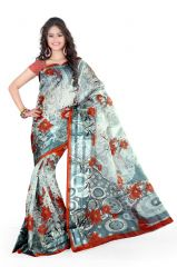 Styloce Grey Cotton Saree (Code - STY-8762-SS1)