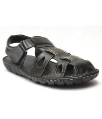 Guava Black Leather Sandals for Men - Product Code (GV15JA127)