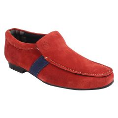 Guava Sleek Suede Red Loafers for Men - Product Code (GV15JA220)