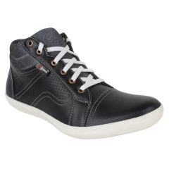 "Guava Men""s Leather Ankle Shoes - Black - (Product Code - GV15JA318)"