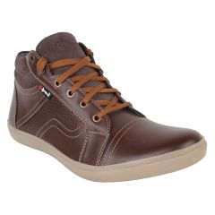 "Guava Men""s Leather Ankle Shoes - Brown - (Product Code - GV15JA321)"