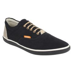 "Guava Men""s Classic Canvas Sneakers - Black - (Product Code - GV15JA335)"