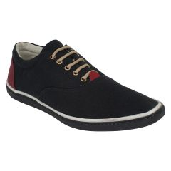 "Guava Men""s Classic Canvas Sneakers - Black - (Product Code - GV15JA348)"