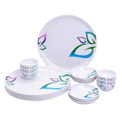Mehul Melamine Exclusive Maharaja 18 Pcs Thali Dinner Set Classic Leaves 20