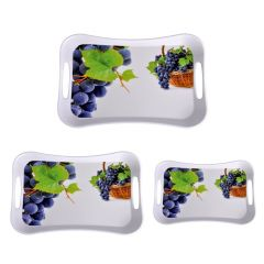 Sharewell Melamine Serving Tray Set Of 3 Pcs