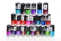 Ads Colour Shine Nail Polish With Liner & Rubber Band-(Code-ADS-RNBMT-Nlpls-LT28-M-Eylnr-FL)