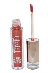 Glam 21 Color Perfection Lip Gloss  With Liner & Rubber Band -Rhp-D2-(Code-GM-E351-D2-LPGL-LT28-M-Eylnr-FL)