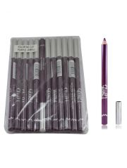 Cosmetics - Glam 21 Purple Glimmersticks For Eyes & Lips Pack Of 12Pcs-Gt-(Code - GM-L07-PRPL-12PCS-EL-LT31-WS)