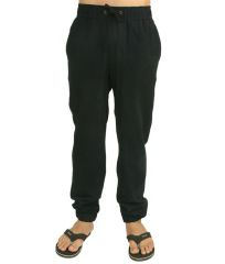 Hypernation Black Color Track Pants For Men