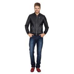 Shop or Gift Hypernation Black Color Pure Leather Jackets For Men Online.