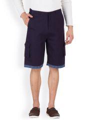 Hypernation Blue 3/4th Cotton Twill Shorts