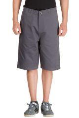 Hypernation Grey 3/4th Cotton Shorts