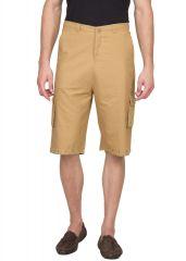 Hypernation Khaki 3/4 Cotton Shorts