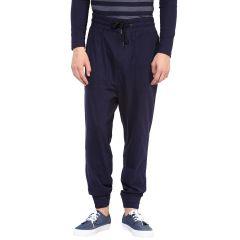 Hypernation Blue Double Drop Crotch Cotton Pant
