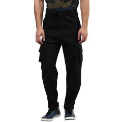 Cargos (Men's) - Hypernation Black Cargo Cotton Pant