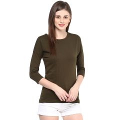 Hypernation Solid Women Round Neck T-shirt_HYPW0725