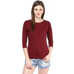 Hypernation Solid Women Round Neck T-shirt_HYPW0733