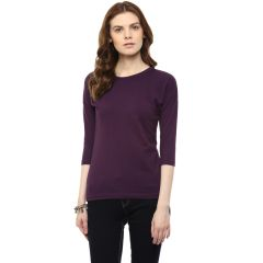 Hypernation Solid Women Round Neck T-shirt