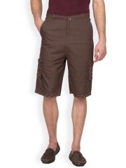 Hypernation Brown Color Casual Three Fourth For Men